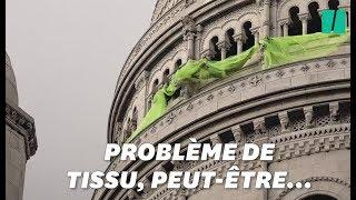 À À Montmartre, ces gilets jaunes ont eu du mal à déployer leur banderole
