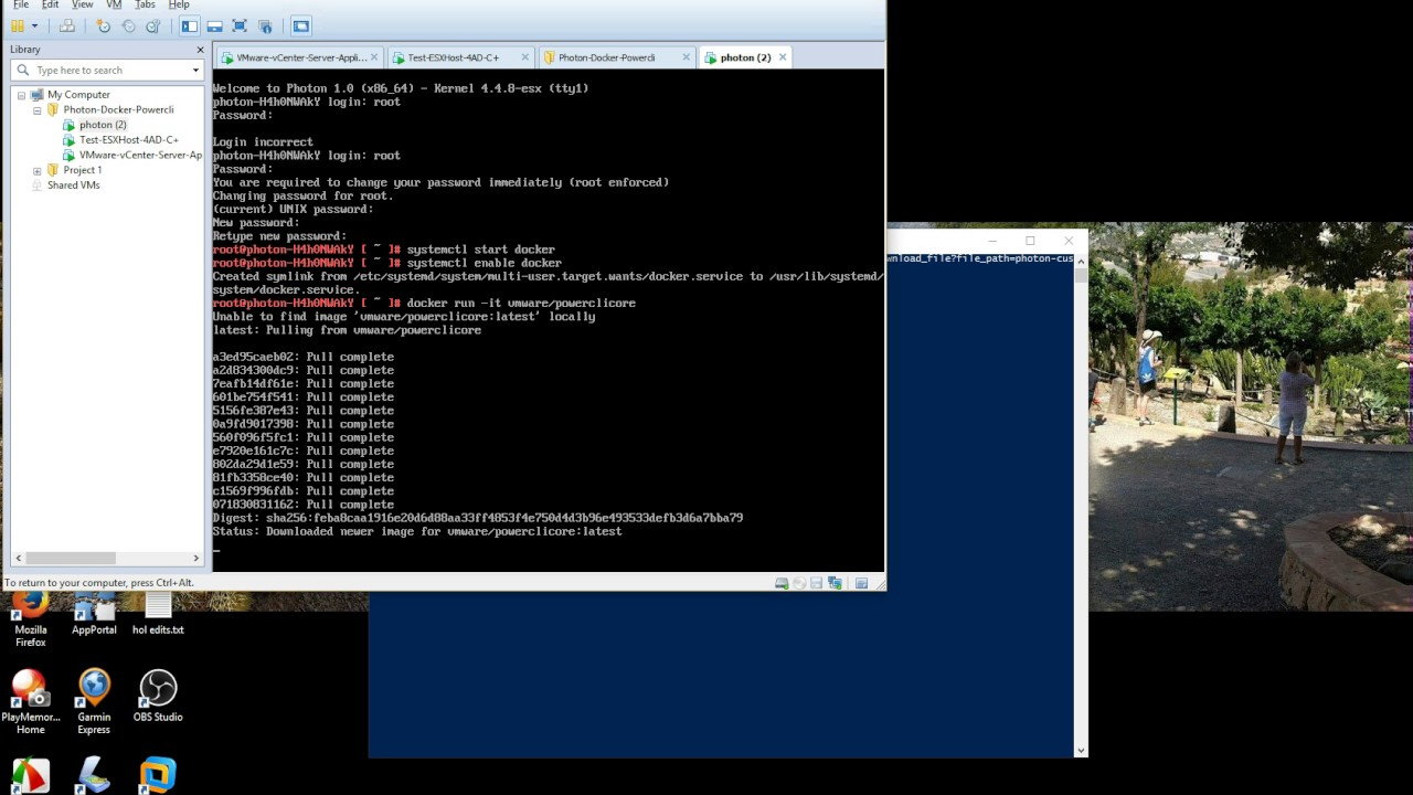 PowerCLI running in a Docker Container on Photon OS in under 10
