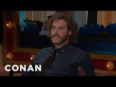 "How T.J. Miller Picks His ""Silicon Valley"" Facial Hair - CONAN on TBS"