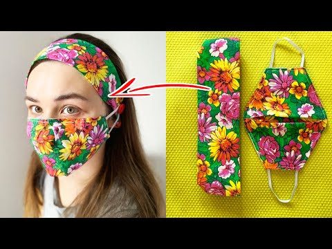 Headband Face Mask with added buttons. Save your ears How to Make Headband With Buttons Easy To Make