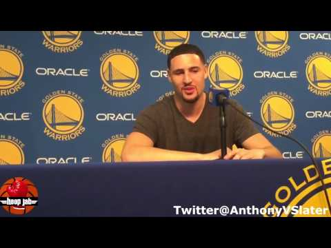 Klay Thompson Reacts To Scoring 60 Points In 3 Quarters Against The Pacers. HoopJab NBA