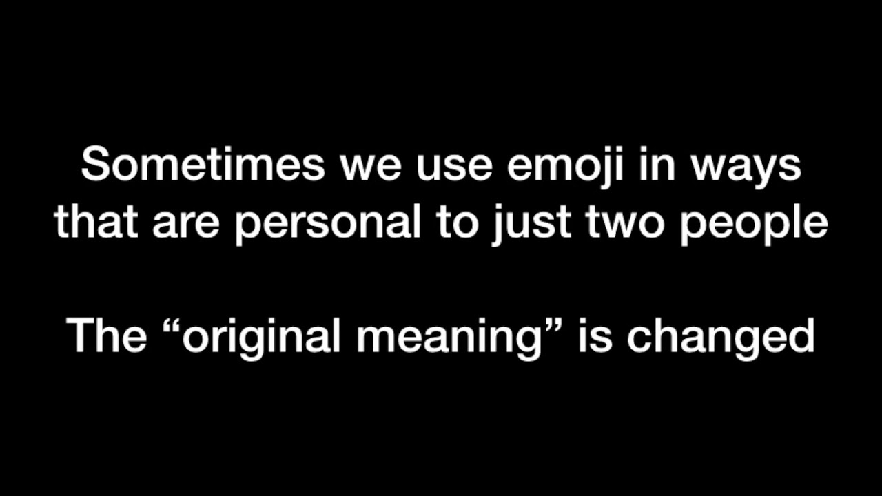 Repurposing Emoji for Personalised Communication