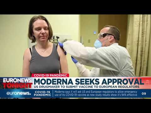 euronews (in English): Moderna seeks approval: US drugmaker to submit vaccine European regulators