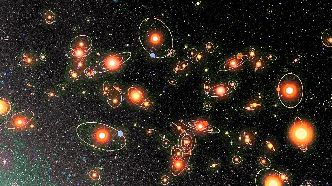 universe solar systems stars and galaxies - 1280×720