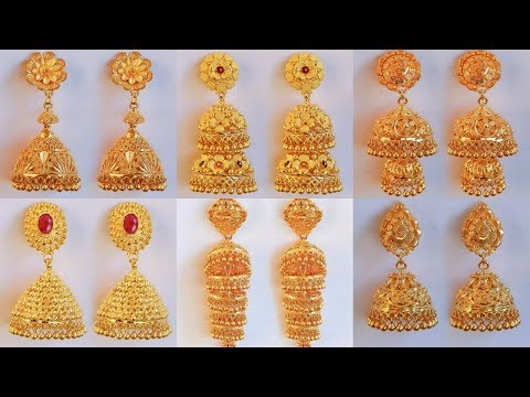 Latest GRT Jewellers Different Type Of Gold jhumkas designs
