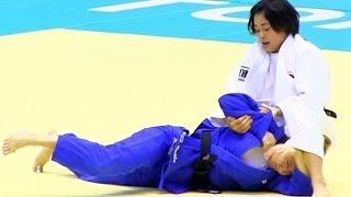 Judo マロイ× 出口クリスタ(準決) 柔道グランドスラム東京2013-1129