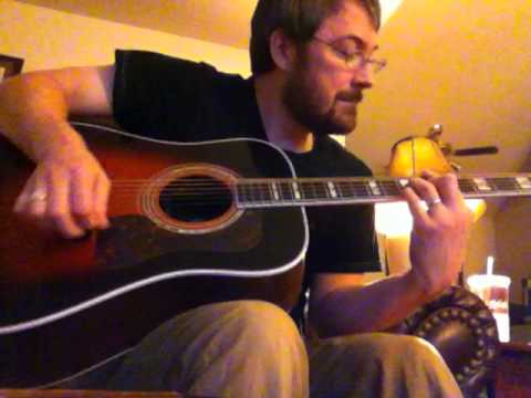 "Hank Williams ""Lost Highway"" Cover in Drop D on a Guild D55 Acoustic"