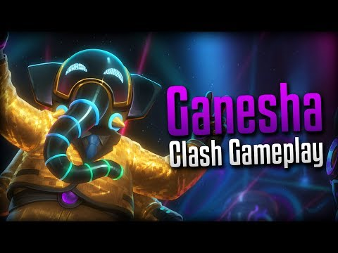 Smite: CAN'T HANDLE THE BEAT!- DJ Ohm Ganesha Clash Gameplay