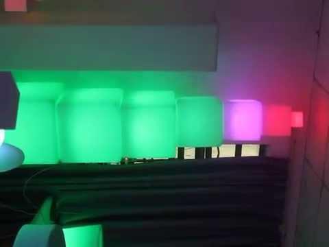 60CM LED Cube Chair Stool,40cm LED Light Cube
