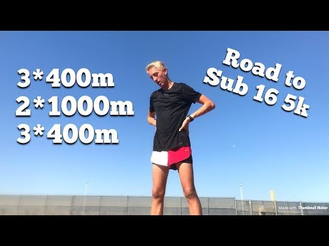 SUB 16 MINUTE 5K WORKOUT | My BEST Workout Yet