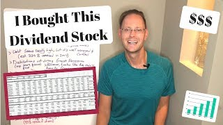 MY DIVIDEND STOCK ANALYSIS WORKSHEET (& The New Dividend Stock I Just Bought)