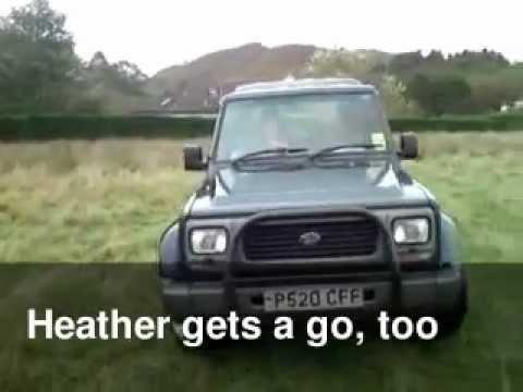 Erin Driving A Daihatsu Fourtrak Youtube