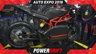 Menza Lucat @ Auto Expo 2018 : PowerDrift