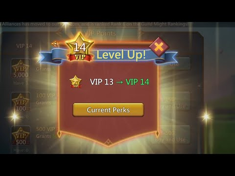 Lords Mobile |Reached Vip 14 | 348 Days | F2P | Thanks To Harpy Skill- First Class