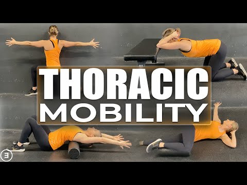 Thoracic Spine Mobility (reduce pain and increase range of motion in the neck, back, and shoulders)