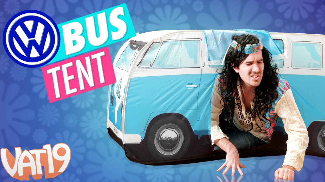 sc 1 st  YouTube & VW Bus Play Tent For Kids - YouTube