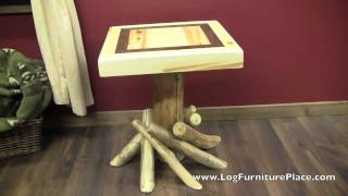 Aspen Estate Log End Table From Logfurnitureplace.com