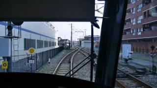 【前面展望】岩瀬浜~富山駅北【富山ライトレール】