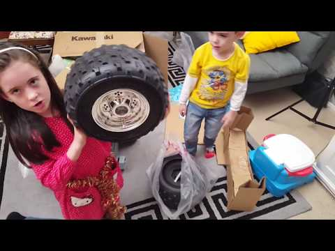Biggest Kawasaki Quad Bike Kids Ride On Power Wheels Assembly