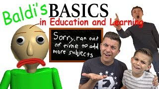 Baldi's Basics in Education and Learning (HORROR GAME?!) Edutainment