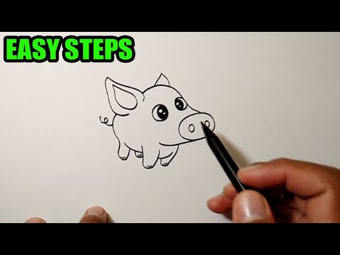 How to draw animals easy | Pig Cute