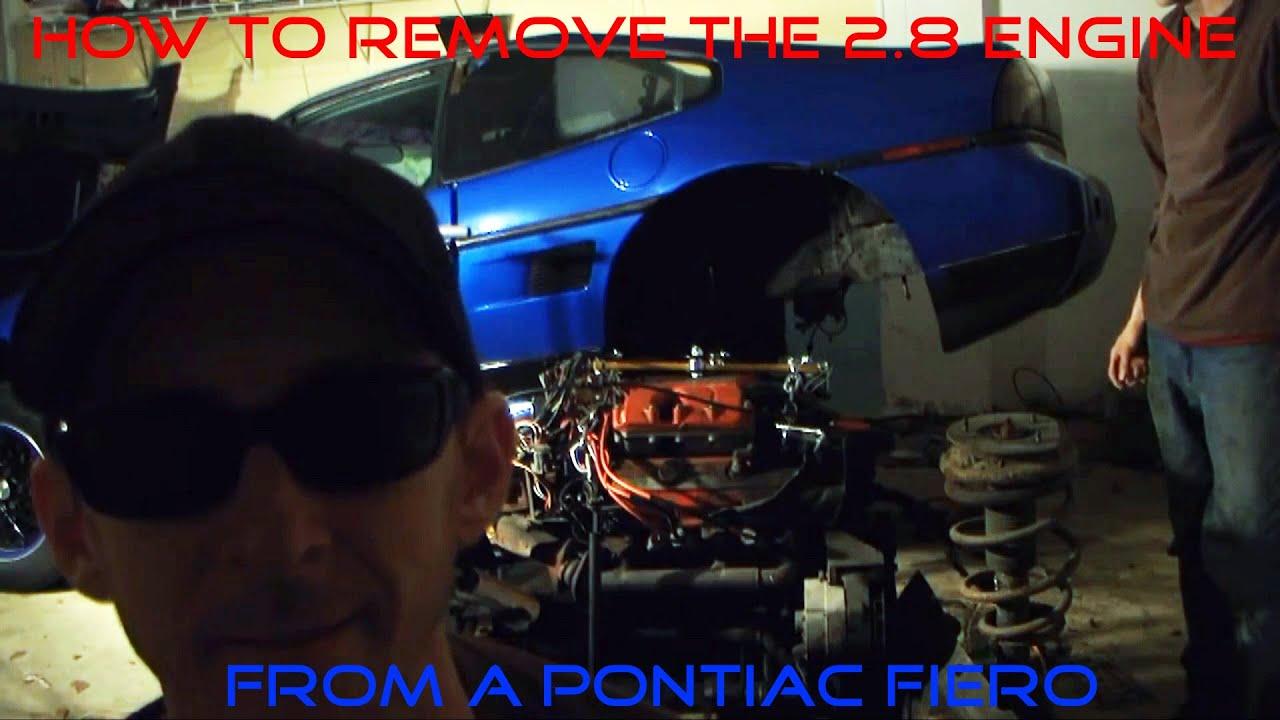 pontiac fiero how to remove a 2 8 v6 engine step by step