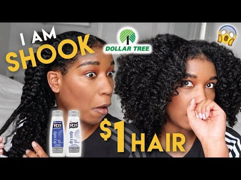 I Used ONLY DOLLAR STORE Hair Products & THIS Happened!!! Was NOT Expecting THAT!