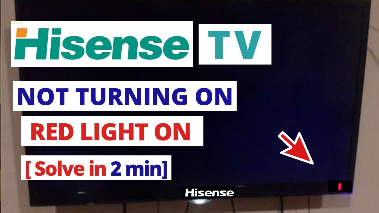 How to Fix Hisense Smart TV Not Turning On Flashing Red Light || Quick  Solve in 2 minutes