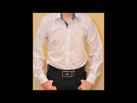 Брендовая белая школьная рубашка Armani для мальчиков 6-15 лет. Турция, хлопок. Www.child-brand.com