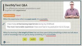 TOEFL Vocabulary - Experience