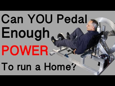 Can you Pedal Enough Energy to run a Home?