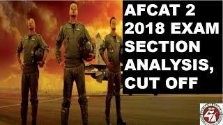 AFCAT 2 2018 CUT OFF MARKS | AFCAT EXAM ANALYSIS | AFCAT EXAM RESULT DATE