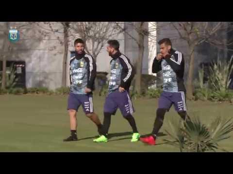[SELECCIÓN MAYOR] Entrenamiento de la Selección Argentina en el Predio de AFA