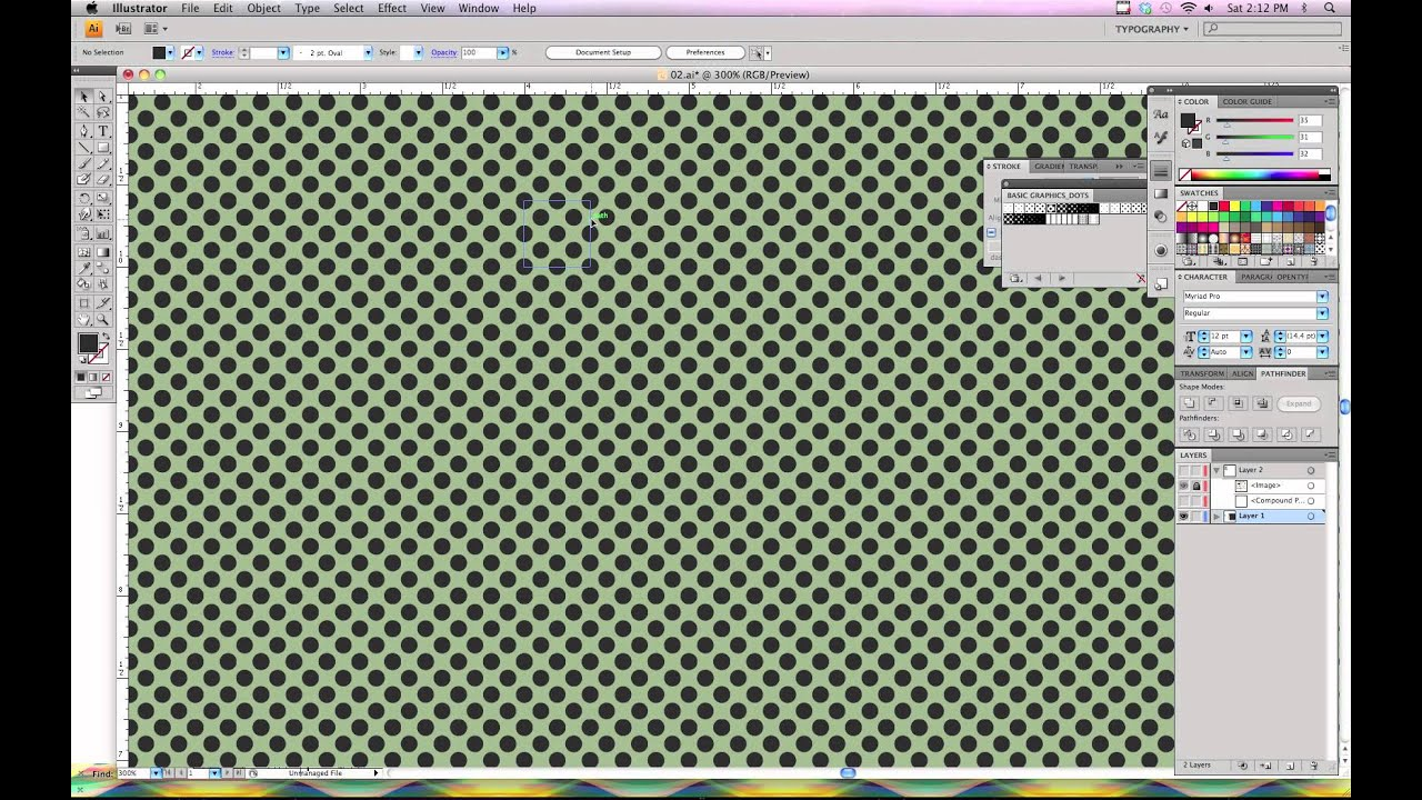 how to change color of fill pattern illustrator