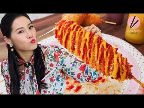 Korean Street Cheese Corn Dogs Recipe!!