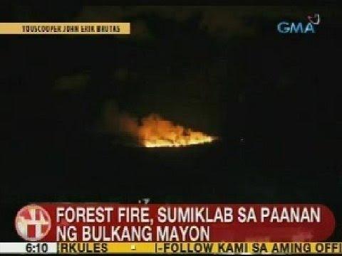 UB: Forest fire, sumiklab sa paanan ng Bulkang Mayon