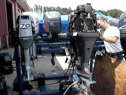 2000 YAMAHA 200 HP OUTBOARD - YouTube on