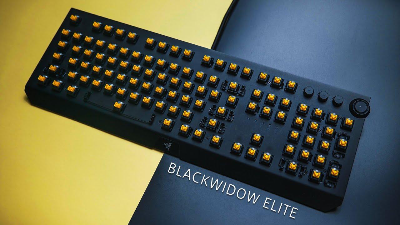 【Jing】夢寐以求的旗艦電競鍵盤..Razer BlackWidow Elite 黑寡婦菁英版 黃軸 使用心得