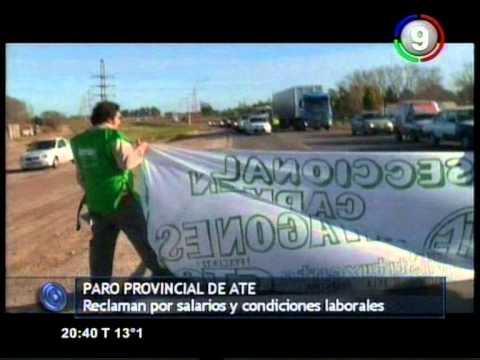 Canal 9 Bahía Blanca - Paro provincial de ATE