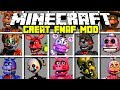 Minecraft GREAT FIVE NIGHTS AT FREDDY'S MOD! | FREDDY, FOXY, BONNIE AND MORE! | Modded Mini-Game