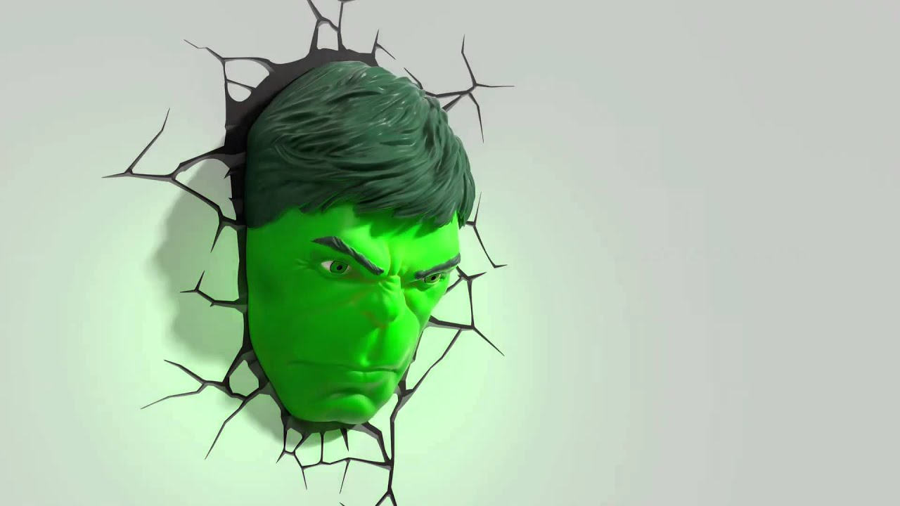 3d fx deco lights avengers hulk face promotional video youtube aloadofball