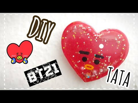 DIY BTS // TATA ♥️ BT21 SHAKER [ DIY RESINA ]