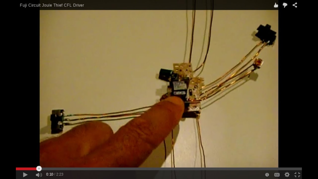 Fuji Circuit Joule Thief Cfl Driver Youtube Camera Flash Further Disposable Schematic
