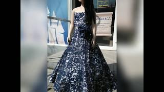 Сказкин Дом. Прокат темно синего платья в пол со стразами аренда в Днепре