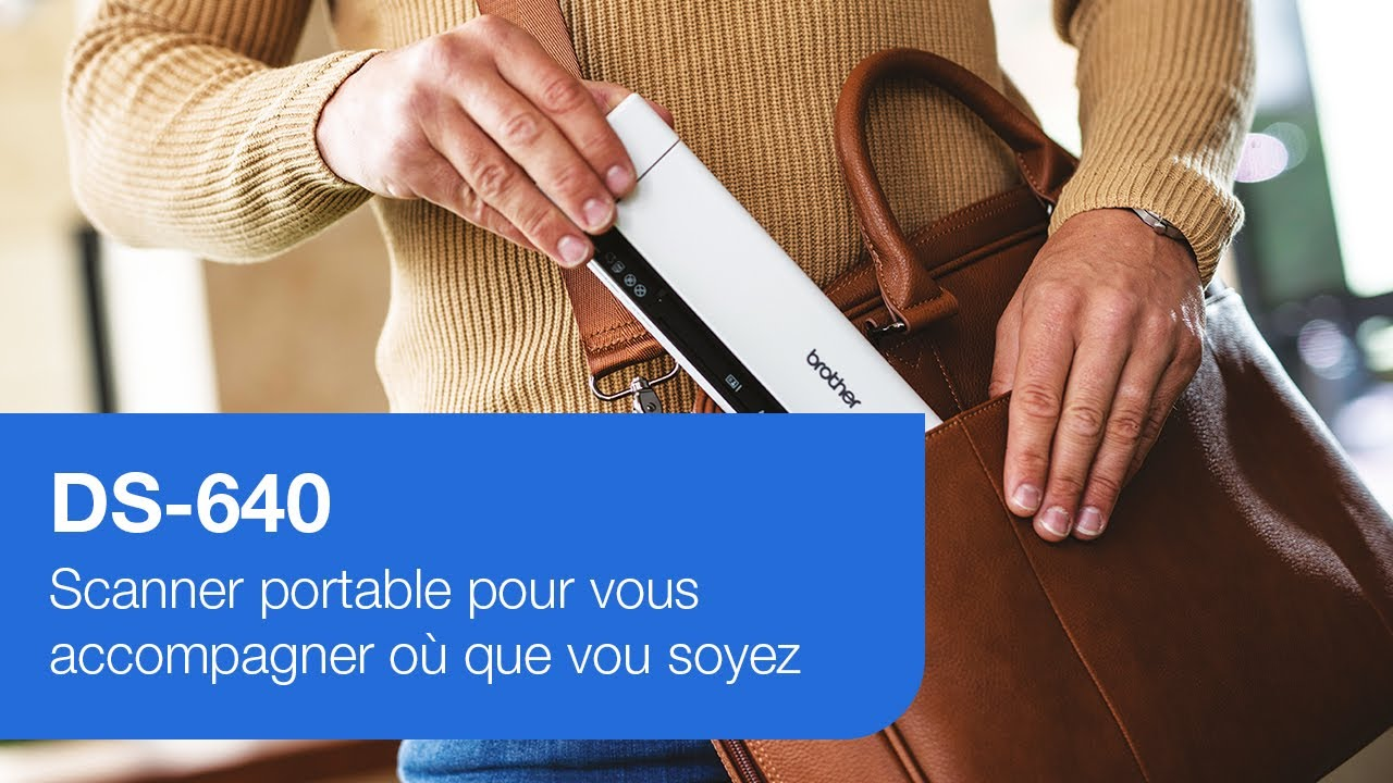 Brother Ds 640 Scanner Portable Ultra Leger Youtube