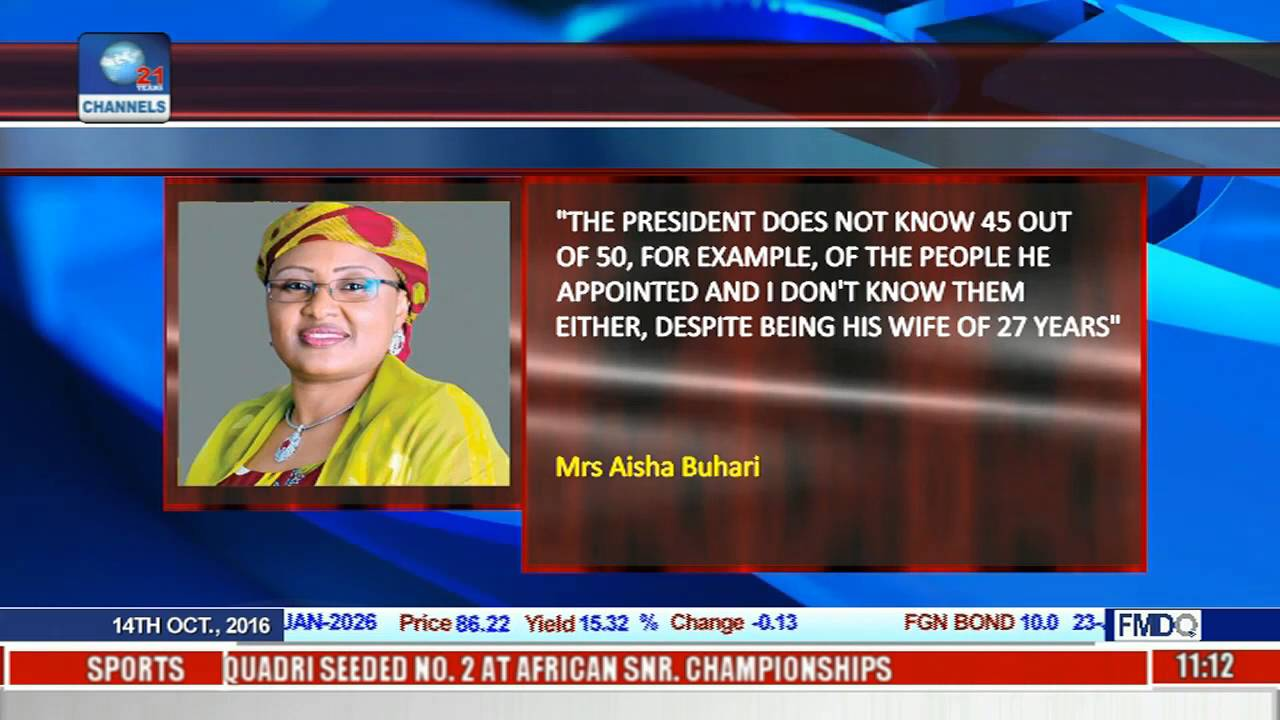 First Lady Warns President Buhari In BBC Interview