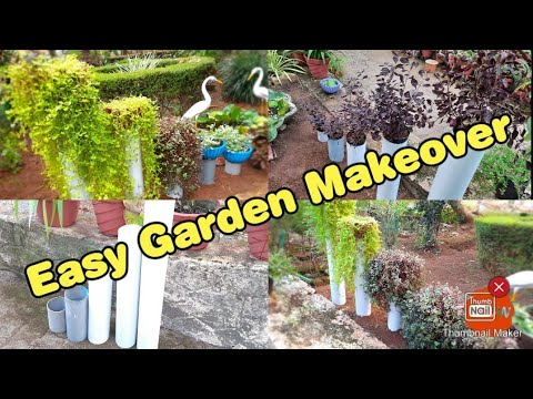 Simple garden ideas -PVC |Decorate your garden with PVC pipe !!