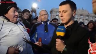 Украинцы чуть не разорвали журналиста своих СМИ