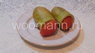 Вкусные кабачки с куриным фаршем и помидорами тушеные в томатном соусе
