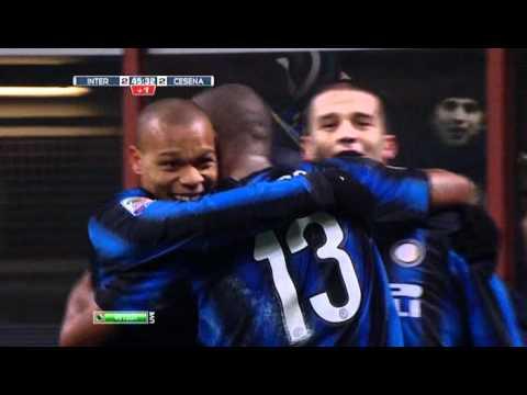Gol di Chivu - Inter vs. Cesena (3:2)